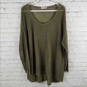 LOVE & LEGEND | olive knit high low long sweater
